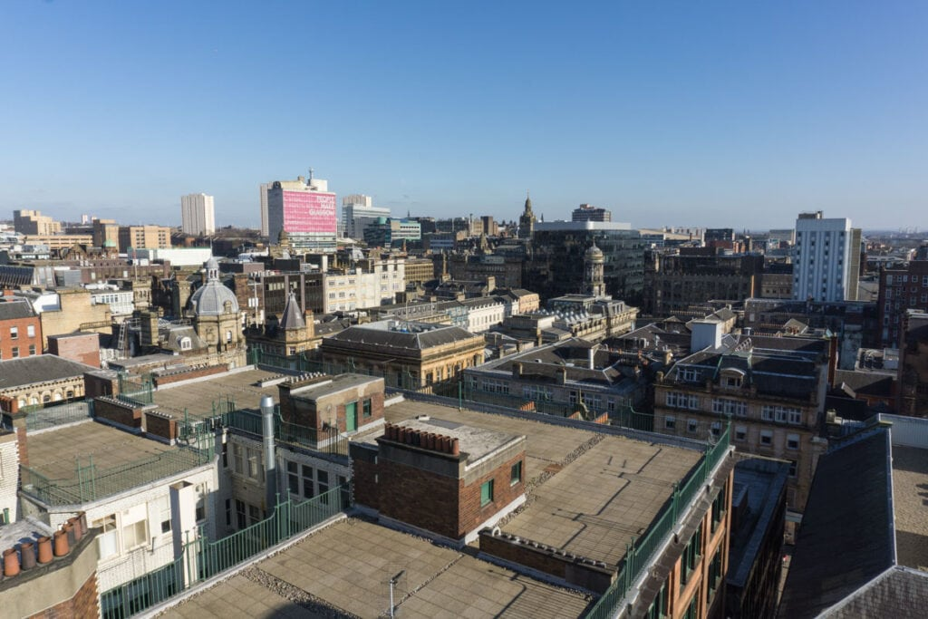 View over Glasgow from The Lighthouse