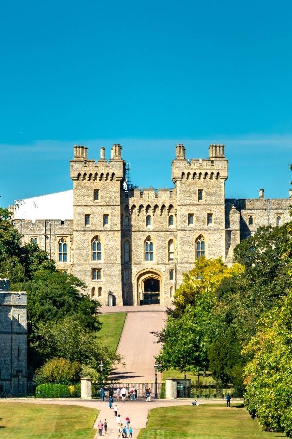 views along the long walk at windsor castle