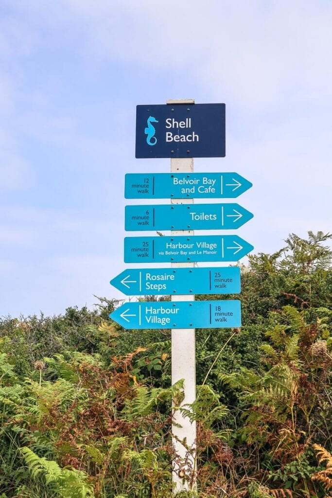 There are helpful signs on Herm Island