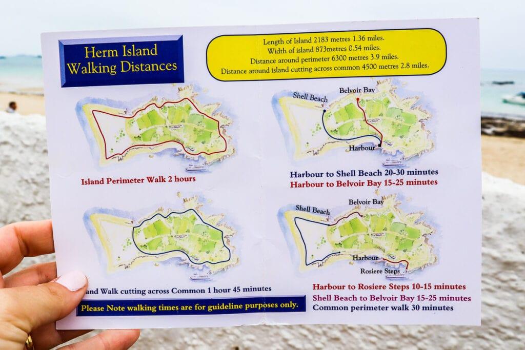 Herm walking map