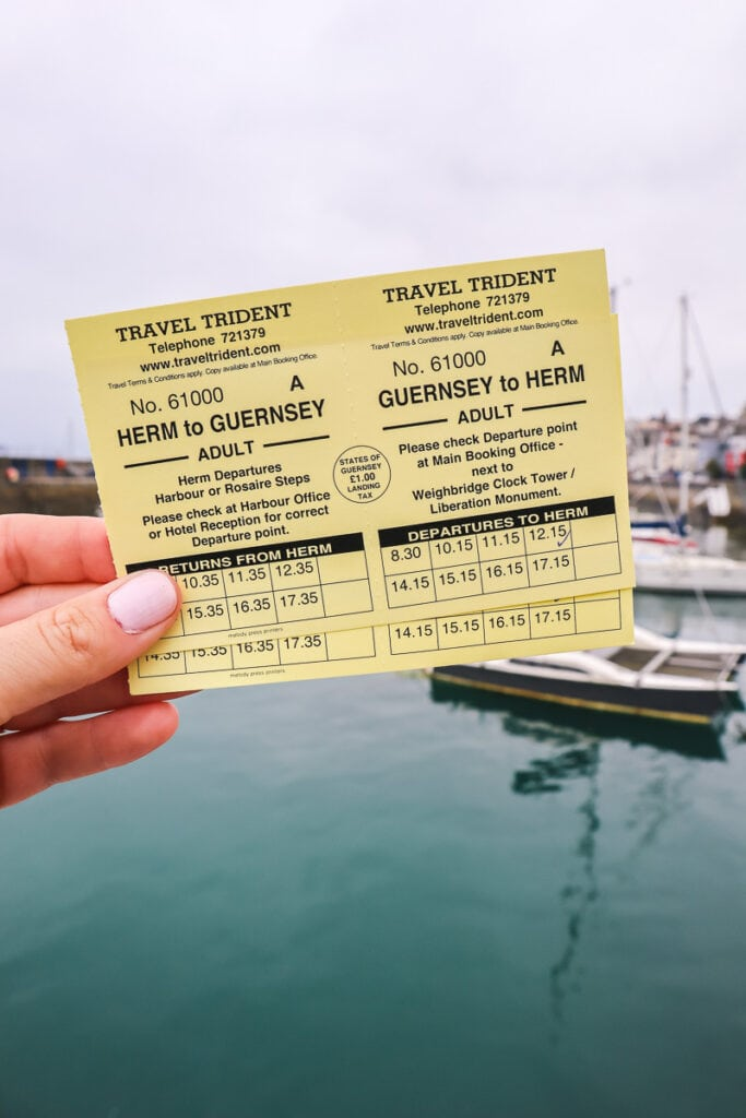 Tickets for the Herm ferry