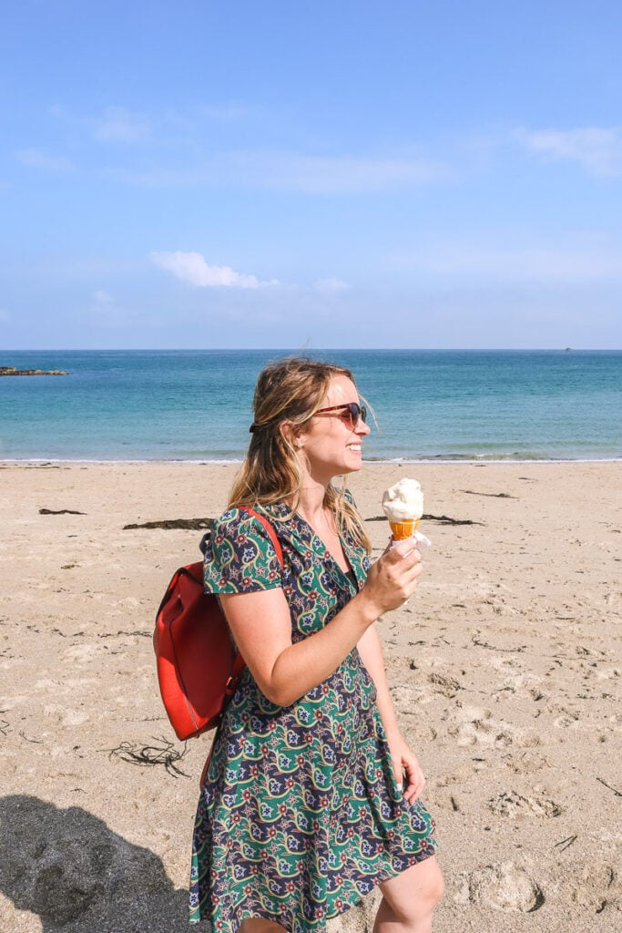 Having an ice cream in Herm